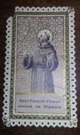 Image Pieuse Religieuse Holy Card  SAINT FRANCOIS D ASSISE  Offert Par La Farine Lactée SALVY - Images Religieuses