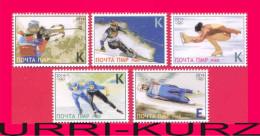 TRANSNISTRIA 2014 Sports Sochi Winter Olympics Slalom Biathlon Luge Figure Skating 5v MNH - Winter 2014: Sochi
