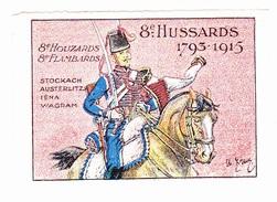 Vignette Militaire Delandre - 8ème Régiment De Hussards - Erinnophilie