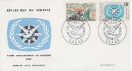 Enveloppe  FDC  1er  Jour    SENEGAL     Année  Internationale  Du  Tourisme     1967 - Sénégal (1960-...)