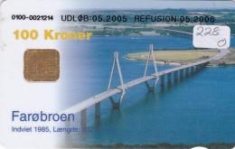 Denmark, DD 228O, Bridges, Faroe Broen, 15.000 Issued, 2 Scans. - Dänemark