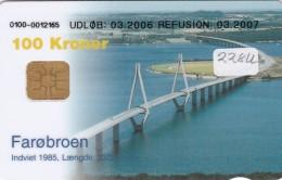 Denmark, DD 228U, Bridges, Faroe Broen, ? Issued, 2 Scans. - Dänemark