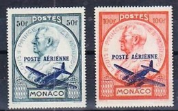 MONACO: 1946 Airmail Set Of TWO. 50 And 100 Fr.  Mnh - Ungebraucht