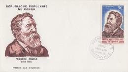 Enveloppe  FDC  1er  Jour   CONGO    Friedrich   ENGELS    1970 - FDC
