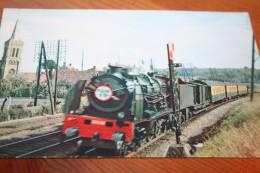 """CPSM  Edition """"La Vie Du Rail"""" Train Locomotive """"La Flèche D'Or"""" Rapide Paris-Calais Maritime - Trenes"""