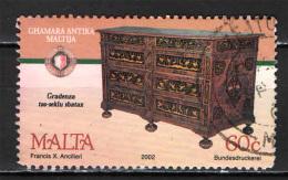 MALTA - 2002 - CREDENZA ANTICA - USATO - Malte