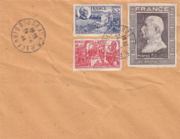 France - LSC - 3  Timbres Pétain Sur Lettre Pouir Bordeaux - Recto - 1941-42 Pétain