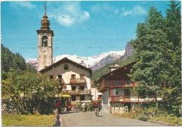 R2782 Gressoney La Trinité (Aosta) - Entrata Al Paese E Ghiacciaio Del Monte Rosa - Bus Autobus / Viaggiata 1974 - Italia