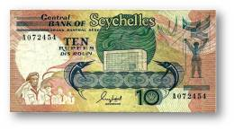 SEYCHELLES - 10 Rupees - ND ( 1989 ) - Pick 32 - 2 Scans - Seychelles