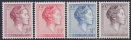 4835. Luxembourg 1961 Definitive - Charlotte, MNH (**) Michel 643-646 - Luxembourg