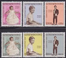 4838. Luxembourg 1961 Charity - Caritas - Henri, Grand Duke Of Luxembourg, MNH (**) Michel 649-654 - Luxembourg