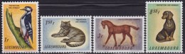 4839. Luxembourg 1961 Animals - Fauna, Animal Protection, MNH (**) Michel 637-640 - Luxembourg