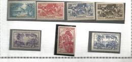 178/184   Typees De 1938   Trace De Charniére (clasbla)