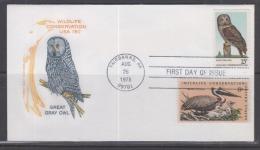 USA 1978 Great Grey Owl FDC - Vögel