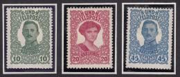 Austria Feldpost 1918 Mi#73-75 Mint Hinged