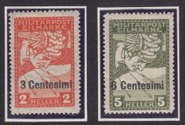Austria Feldpost Occupation Of Italy 1918 Mi#24-25 ND Mint Hinged