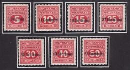 Austria Feldpost Occupation Of Italy 1918 Porto Mi#1-7 Mint Hinged