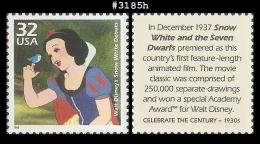 US 3185h St1 1930 Walt Disney Snow White Debutes - Blokken & Velletjes