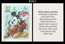 US 3912 St1 Pluto Mickey Mouse Art Of Disney - Blokken & Velletjes