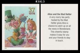 US 3913 St1 Mad Hatter Alice Art Of Disney - Blokken & Velletjes