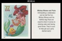 US 3914 St1 Flounder Ariel Art Of Disney - Blokken & Velletjes
