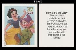 US 3915 St1 Snow White Dopey Art Of Disney - Blokken & Velletjes
