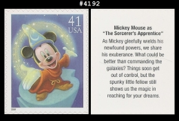 US 4192 St1 The Art Of Disney : Mickey Mouse - Blokken & Velletjes