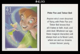 US 4193 St1 The Art Of Disney : Peter Pan And Tinker Bell - Blokken & Velletjes