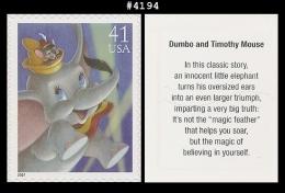 US 4194 St1 The Art Of Disney : Dumbo And Timothy Mouse - Blokken & Velletjes