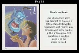 US 4195 St1 The Art Of Disney : Aladdin And Genie - Blokken & Velletjes