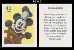 US 4343 St1 Steamboat Willie Mickey Mouse Art Of Disney - Blokken & Velletjes