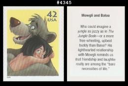 US 4345 St1 Mowgli And Baloo Art Of Disney - Blokken & Velletjes