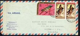 1971  Lettre Avion Pour Le Canada  Poste Aérienne Oiseau 20 Fr; Pâques 1971 3 Fr X2 - Burundi