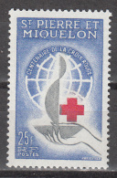 ST PIERRE AND MIQUELON      SCOTT NO. 367        MINT  HINGED      YEAR  1963 - Unused Stamps