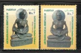 Pakistan 1999 Archaeological Heritage Buddha Buddhism Sc 919-20 2v MNH # 13577 - Buddhism