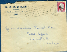 France / Algérie - Timbre Avec Surcharge EA Sur Enveloppe En 1962 , A Voir Réf S 180 - Storia Postale