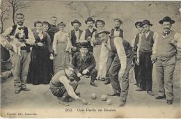 PÉTANQUE - JEU DE BOULE - UNE PARTIE DE BOULES - Ed. Edr. Courtin, Grenoble - Bocce