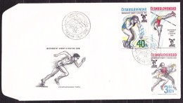 CZECHOSLOVAKIA 1978, UNUSED FDC COVER. Michel 2437-2439. ATHLETICS. Good Condition, See The Scans. - Atletismo