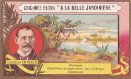 CAPITAINE TRIVIER  - FRANCAIS  - EXPEDITION ET EXPLORATION DANS L'AFRIQUE EQUATORIALE - CHICOREE EXTRA  C. BERIOT - Thé & Café