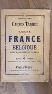 RARE CARTE TARIDE DES VOIES NAVIGABLES ET CANAUX DE FRANCE ET DE BELGIQUE  100 X 85 CM ECHELLE 1/300000e - Cartas Náuticas