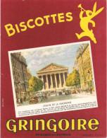 BUVARD  BISCOTTES GRINGOIRE PARIS EGLISE DE LA MADELEINE - Biscottes