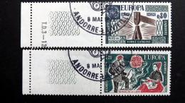 Andorra Franz. 274/5 Oo/ESST, EUROPA/CEPT 1976, Kunsthandwerk