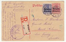 CP Recommandée Bruxelle -> Vevey Suisse 1916 Censure - Guerre 14-18