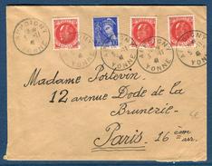 France - Enveloppe De Appoigny Pour Paris En 1941  Réf S 232 - Marcophilie (Lettres)