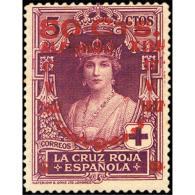 ES382STV-LFT***382STCFR.ANIVERSARIO.CONSTITUCION POR ALFONSO Xlll.Reina VICTORIA EUGENIA. 1927 (Ed 382**) - Familias Reales