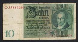 °°° REICHSBANKNOTE  10  REICHSMARK  1929 - [ 3] 1918-1933 : Weimar Republic