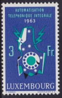 4849. Luxembourg 1963 Full Automation Telephone, MNH (**) Michel 683 - Luxembourg