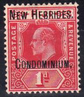 1908 BRITISH NEW HEBRIDES KEVII OVPTD 1d RED (SG# 2) MH - Ongebruikt