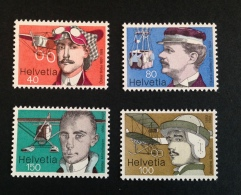 Svizzera 1977 Pionieri Aviazione 1090-93 ** MNH Postfrisch - Nuovi