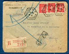 France - Enveloppe En Recommandée De Marseille Pour Marseille En 1941 Et Retour  Réf S 253 - Marcophilie (Lettres)